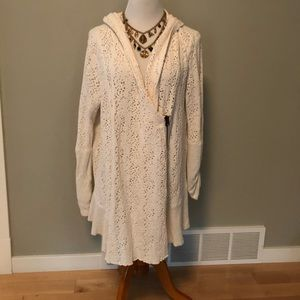 Free People Crocheted Hooded Shrug